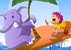 Tirinha do elefante na ilha
