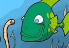 Peixe e minhoca