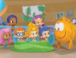 Indicado para crianças da pré-escola, Bubble Guppies é feito pela mesma equipe que criou Backyardigans